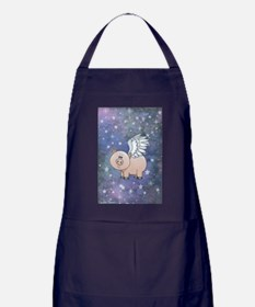 Cute Day when pigs fly Apron (dark)