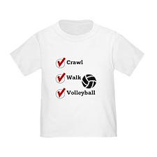 Crawl Walk Volleyball T-Shirt