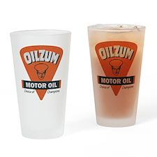 OilZum Retro Logo Drinking Glass