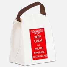 Unique Aviation Canvas Lunch Bag