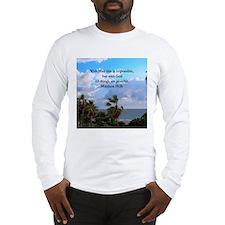 MATTHEW 19:26 VERSE Long Sleeve T-Shirt