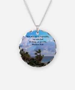 MATTHEW 19:26 VERSE Necklace