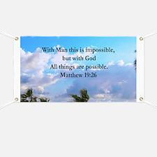 MATTHEW 19:26 VERSE Banner