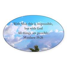MATTHEW 19:26 VERSE Decal