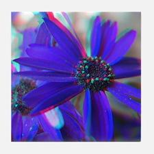 3D Floral Photograhy Tile Coaster
