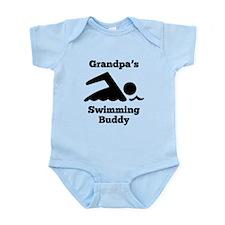 Grandpas Swimming Buddy Body Suit