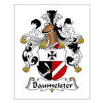 Baummeister Family Crest  Small Poster