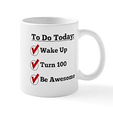 100th Birthday Checklist Mugs