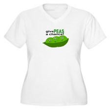 GIVE PEAS A CHANCE Plus Size T-Shirt