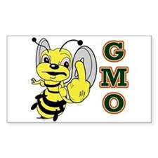 Angry Bee Hates Gmos Decal