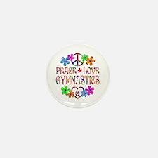 Peace Love Gymnastics Mini Button (10 pack)