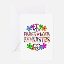 Peace Love Gymnastics Greeting Card