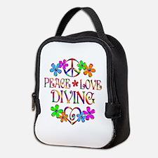 Peace Love Diving Neoprene Lunch Bag