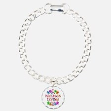 Peace Love Diving Charm Bracelet, One Charm