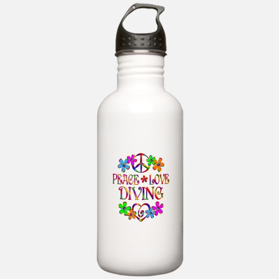 Peace Love Diving Water Bottle