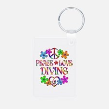 Peace Love Diving Keychains