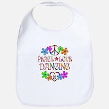 Peace Love Dancing Bib