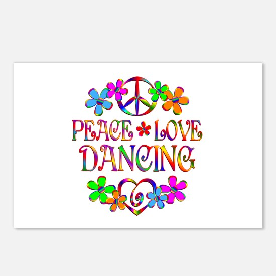 Peace Love Dancing Postcards (Package of 8)
