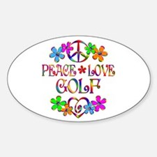 Peace Love Golf Decal