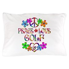 Peace Love Golf Pillow Case