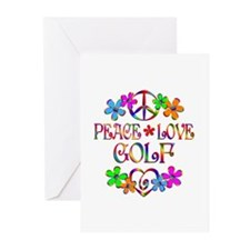 Peace Love Golf Greeting Cards (Pk of 10)