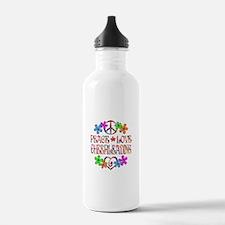 Peace Love Cheerleadin Water Bottle