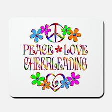 Peace Love Cheerleading Mousepad