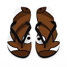 Cartoon Gnu Flip Flops