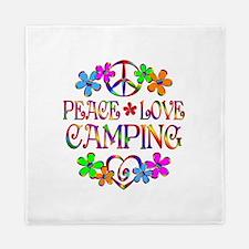 Peace Love Camping Queen Duvet