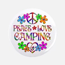 Peace Love Camping Button