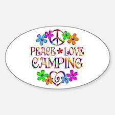 Peace Love Camping Bumper Stickers