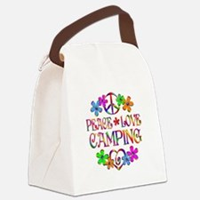 Peace Love Camping Canvas Lunch Bag