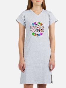 Peace Love Camping Women's Nightshirt
