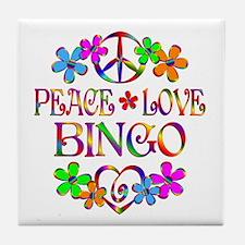 Peace Love Bingo Tile Coaster