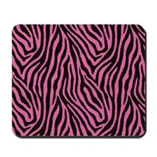 Pink Zebra Mousepad