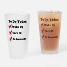88th Birthday Checklist Drinking Glass