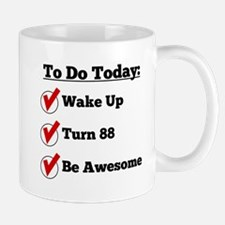 88th Birthday Checklist Mugs