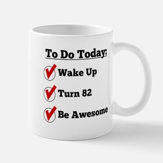 82nd Birthday Checklist Mugs