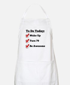 79th Birthday Checklist Apron