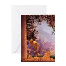 Maxfield Parrish, Daybreak Greeting Cards