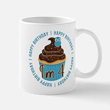 4th Birthday Cupcake and Owl Mug