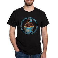 4th Birthday Cupcake and Owl T-Shirt