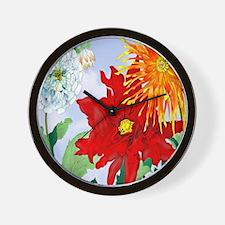 Dazzlin' Dahlias Wall Clock