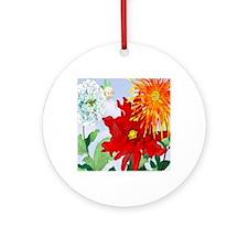 Dazzlin' Dahlias Ornament (Round)