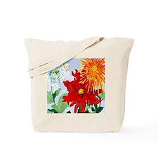 Dazzlin' Dahlias Tote Bag