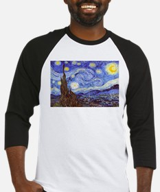 Starry Night Van Gogh Baseball Jersey