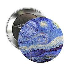 "Starry Night Van Gogh 2.25"" Button"