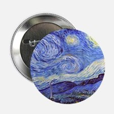 "Starry Night Van Gogh 2.25"" Button"