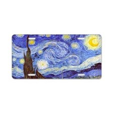 Starry Night Van Gogh Aluminum License Plate