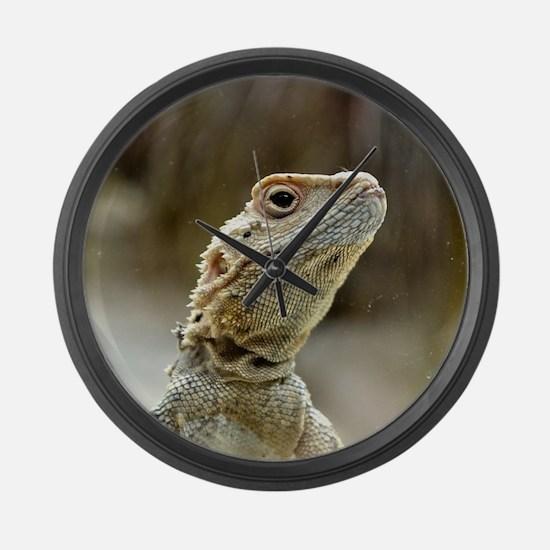 nosy Lizard Large Wall Clock
